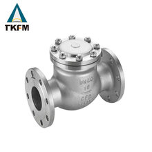 2017 TKFM hot sale city water supply pipeline use hydraulic water meter cf8m double disc non slam check valve