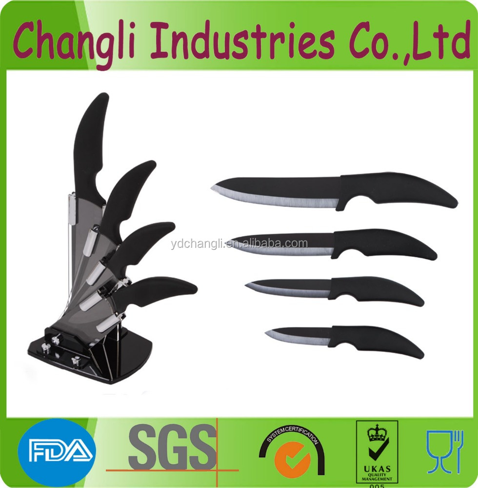 Hot sale zirconium ceramic black blade knife