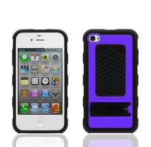For iphone4 combo case,cheap high quality protective front and back case for iphone 4