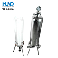 Sanitary ss304 polypropylene microporous membrane filter with pleated filter element