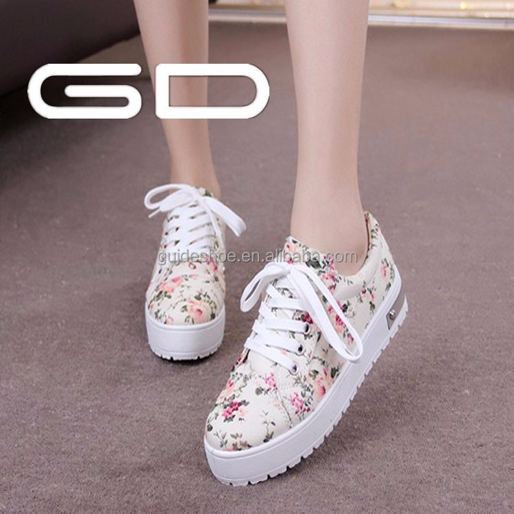 good quality new fashion canvas casual platform sneakers