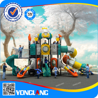 Yonglang Wenzhou Famous Brand Car roof and transparent tube slide with funny kids and children games playground for sale