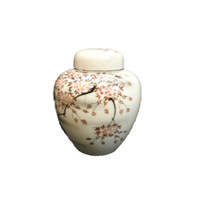 Unique White Delineate Japanese Urns For Sale