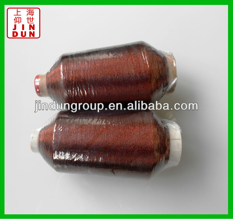 copper MS type lurex embroidery yarn /polyester embroidery thread
