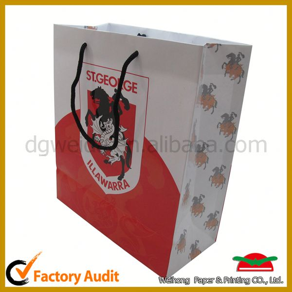 gament paper shopping bag,hot fsc luxury paper shopping bag