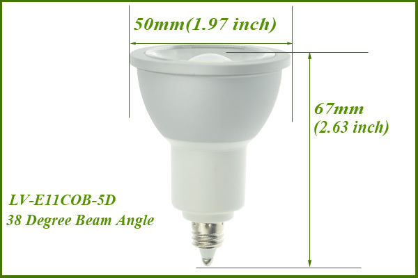 CE RoHS SAA PSE ETL Listed Bulk Buy from China Warm White COB LED 5W E17 E14 E12 E11 LED Spot Light