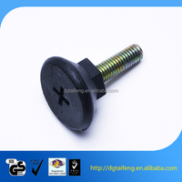 Slotted dome head steel and brass dowel screw