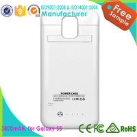 High Quality Backup Battery And Leather Case power case for Samsung Galaxy S5