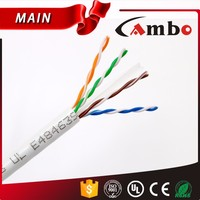 CAMBO Factory for CCTV IP Camera 1080P 305M 1000ft 4P 23AWG Cat 6 UTP Cat6 Cable
