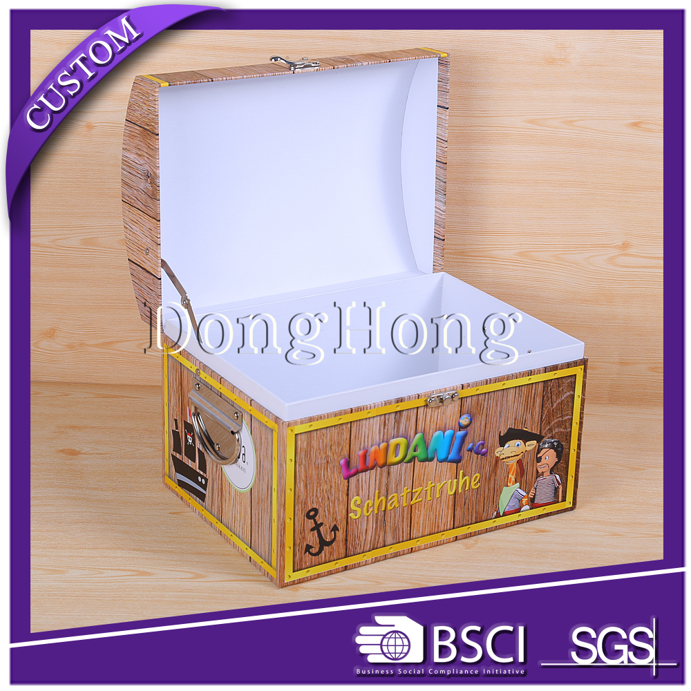 Hamper gift carrying 4 color printing kraft paper suitcase