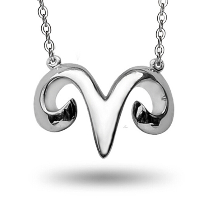 sheep horn cable chain necklace in 925 silver