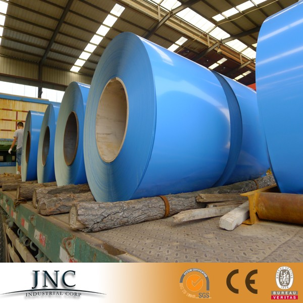 prepaited galvanized steel coils/PPGI/ RAL 5015 RAL9002 blue color grey color
