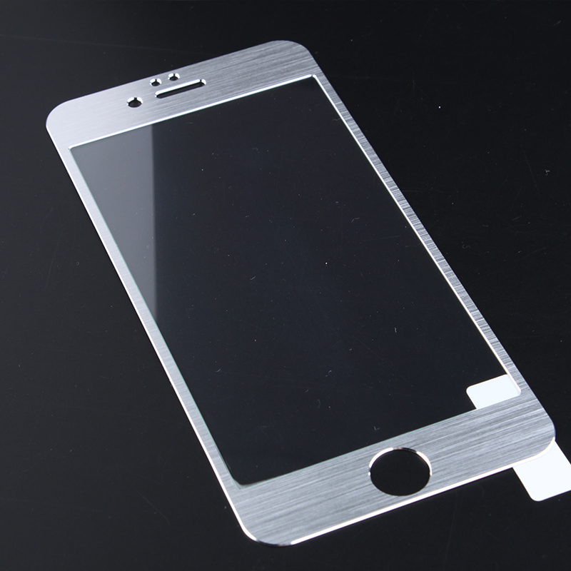 Customized Titanium-aluminium Alloy Border Tempered Glass Screen Protector for Iphone 4/4S