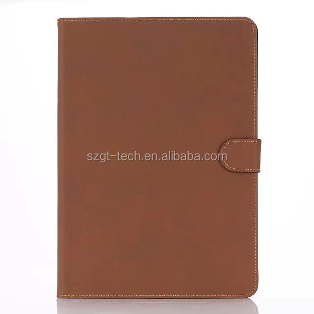 Fashionable retro stand book style folding folio leather case for iPad air 2
