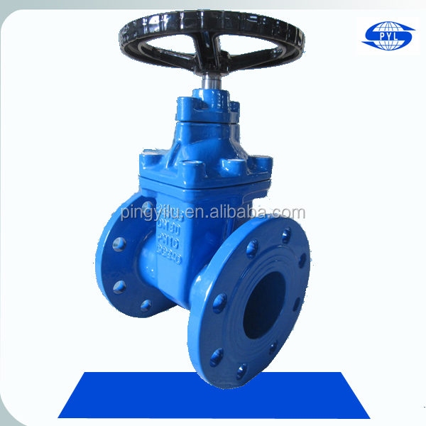 resilient seated flange type water gate valve Z45X-16