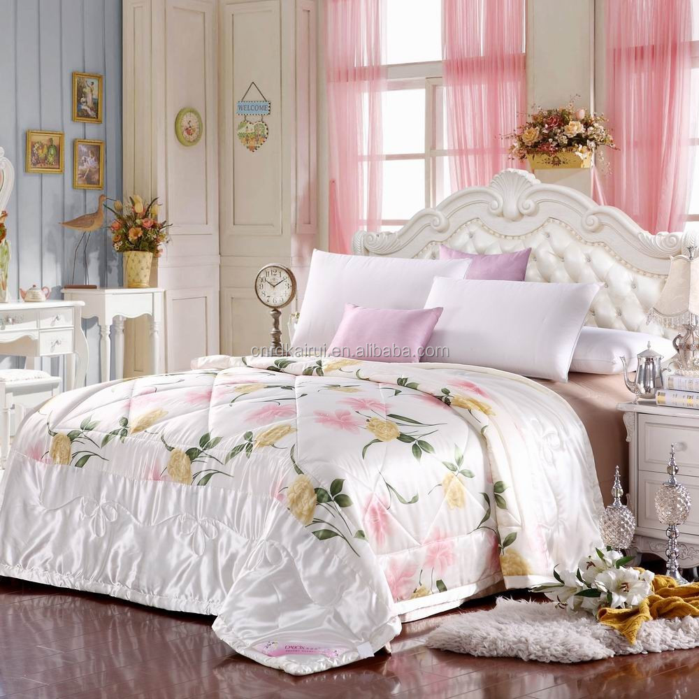 New high quality custom print silk bedding or good used hotel bedding /bedding set made in india for sale