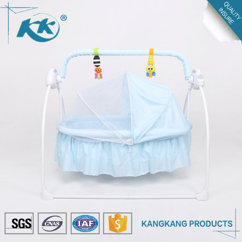 Gold supplier competitive price wholesale custom made swinging portable clear plastic baby crib