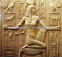 Yellow Sandstone Of Figure And Animals