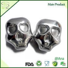 Super Cool Design Metal Ice Cube For Whiskey /Wholesale Whiskey Stones Skull Shape