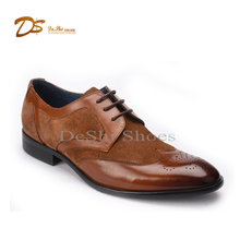 2017 new stylish italian fashion wingtip leather men dress shoes made in china