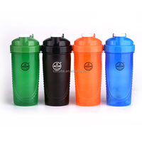 Logo Customized 600ml Colorfull Fashion Shaker cup & BPA FREE shaker bottle with mixer ball
