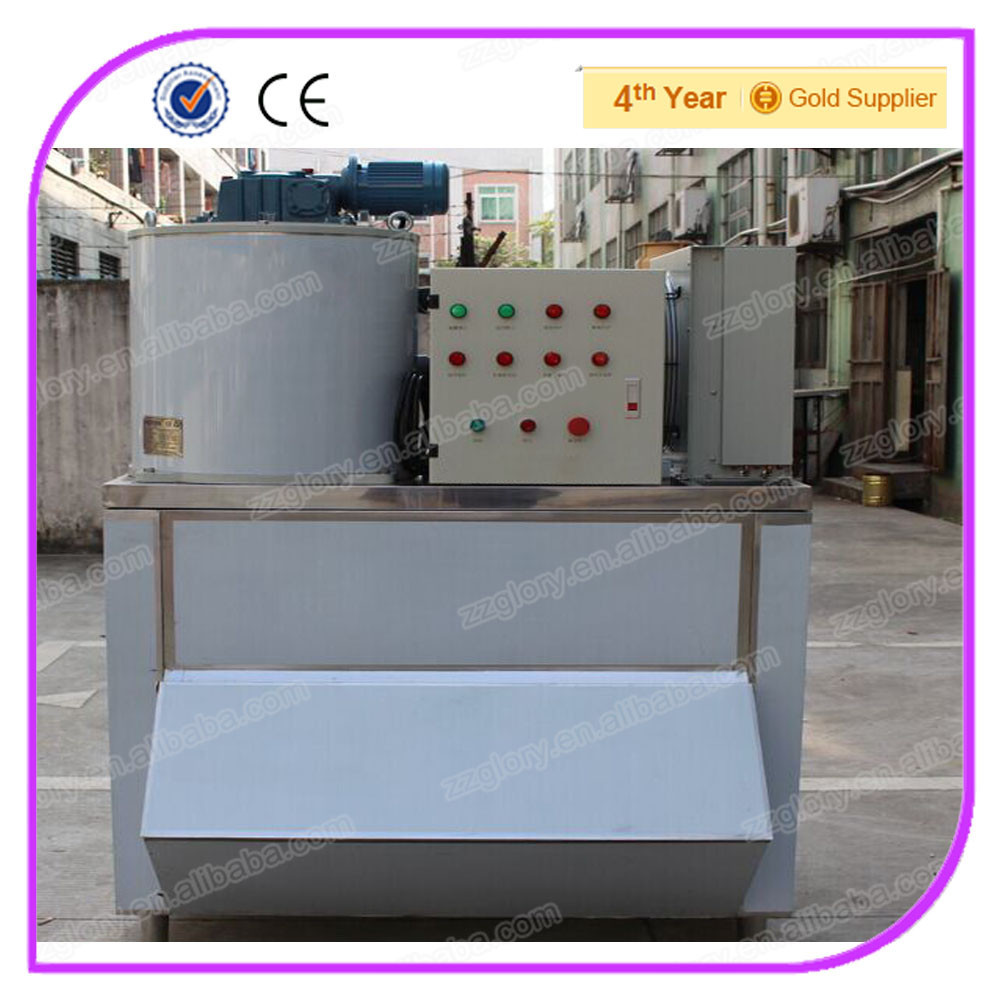 CE Approved 1 Ton Commercial Range Flake Ice Machine For Seafood