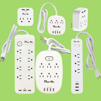 3.5A USB 3 Outlet extension lead, 1800 Joules 2-port 2.1A USB charger dual USB, 5V/2.4A, 2 outlet surge adaptor