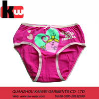 cartoon underwear for girl's ,rose brief for girl ,cheap underwear for girl