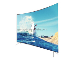 Smart 55 inch curved screen television 4K full hd 3D TV with samsung curved panel TV good quality cheap price