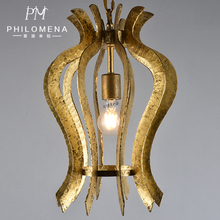 Gold leaf Hammered Pendant Light For Kitchen