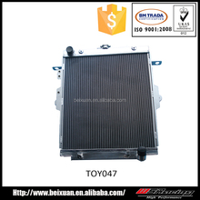 6061 finishing polished full aluminium radiator for toyota landcruiser 80 HZJ78 HZJ79