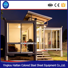 Modular Comfortable Living 3bathroom, kitchen, cheap prefabricated folding container luxury prefab villas