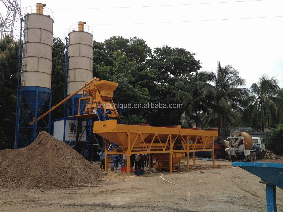China Professional 50m3/h Mobile Batching Plant For Sale