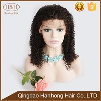 The Best Style Beautiful Kinky Curly Brazilian perruque full lace wigs human hair