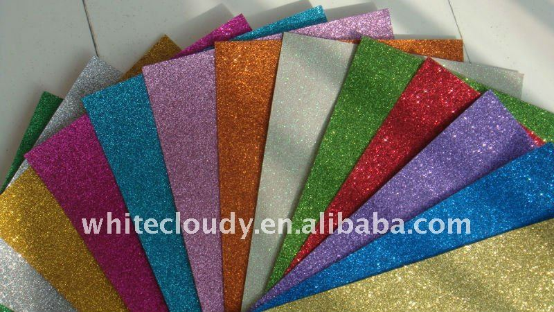 280gsm colored glitter paper