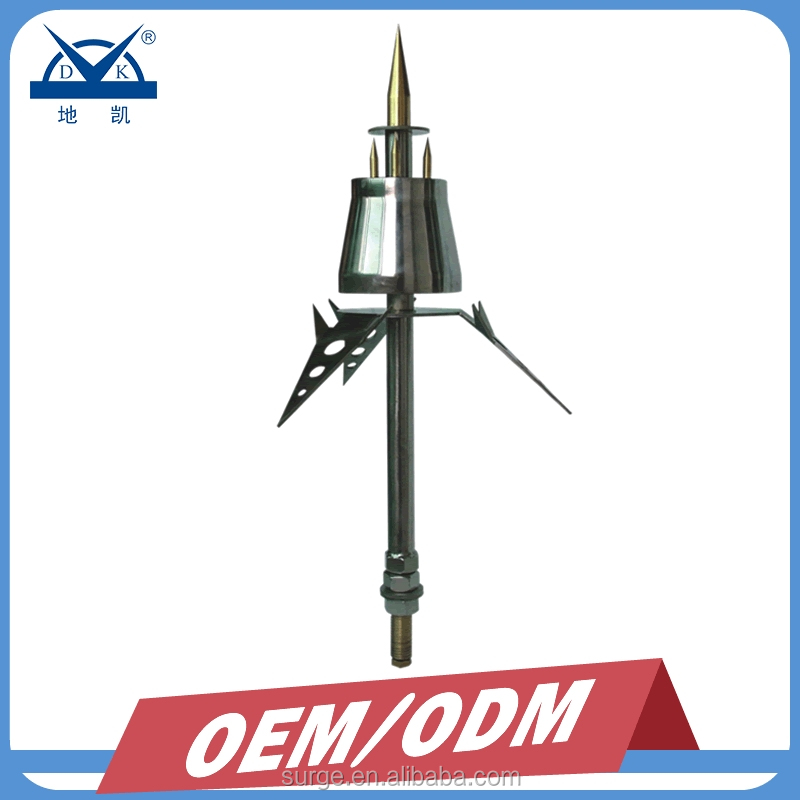 Stainless Steel Building Lightning Arrester ESE Lightning Protection Air Terminal