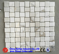 Italy calacatta white marble mosaic table top,Marble Mosaic Tile