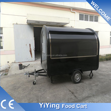 FR280W Yiying factory made brand new commercial hot dog coffee shop mobile cart tricycle for sale