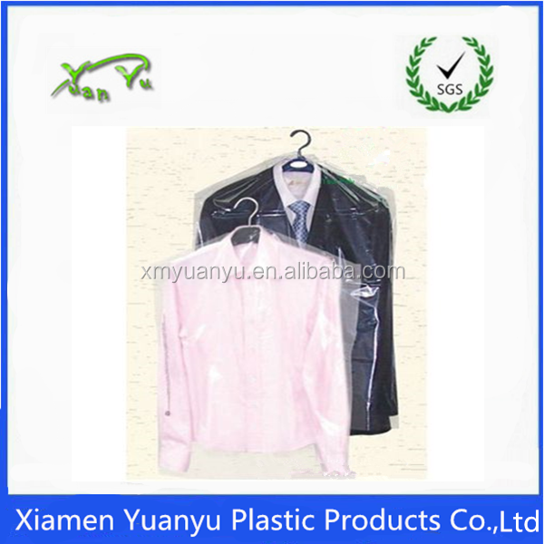 LDPE clear plastic package bag/ garment cover/dry cleaning bag.