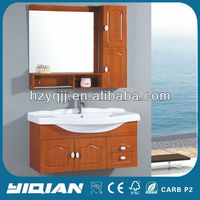 Light Brown Modern Design Mirrored Style Simple Used Bathroom Vanity
