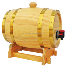 china factory FSC OEM pine 10L wooden beer wine whiskey barrel drums for bar
