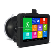 mediatek 8127 GPS tracking 5 inch Android GPS Navigator DVR optional WIFI free map update
