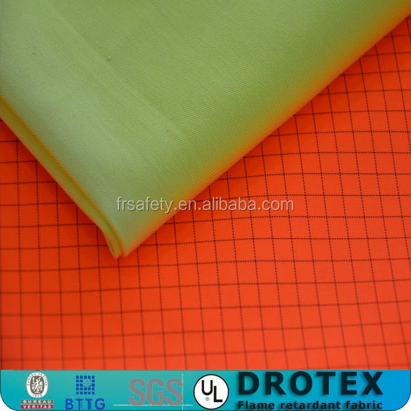 Eco-friendly Waterproof Fireproof Polyester Ripstop Fabric