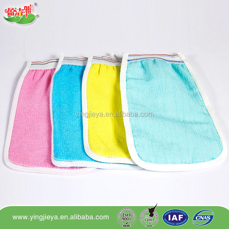Color doubles disposable gloves shower bath wash glove disposable towel viscose fibre