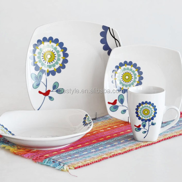 16pcs square dinnerware set with print porcelain dinnerware with decal  sc 1 th 225 & 16pcs square dinnerware set_Yuanwenjun.com