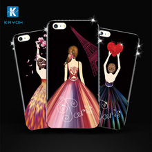 [kayoh]Latest mobile Personalized printing phone cases for samsung s8 for iPhone 7 case with frame crystal