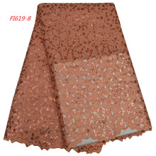 Wine dry cotton african lace fabric swiss voile lace in switzerland / UK big swiss organza lace fabric FI719-8