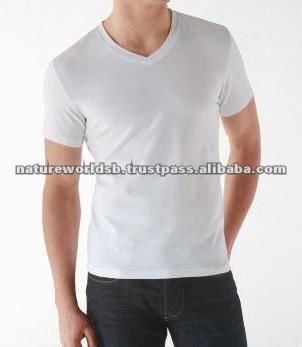 V-neck tee shirt for men