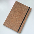 CUSTOM A5 cork PU leather notebooks with elastic band