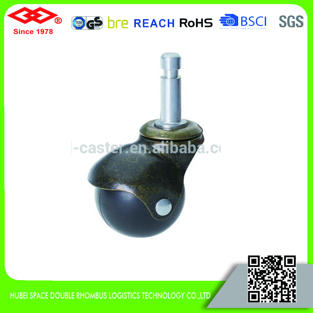 2 inch swivel U shaped plate bronze caster wheel